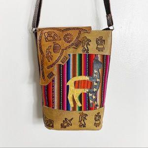 Handmade Peruvian Folk Art Crossbody Bag